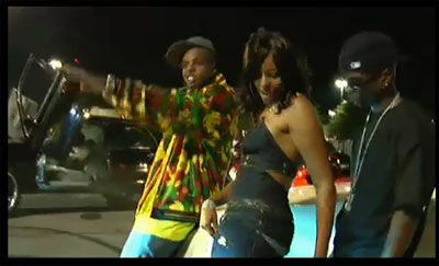 Miss B - Fall Up In The Club music video screen