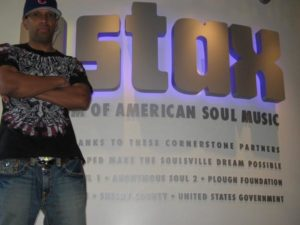 Gyft in front of Stax sign