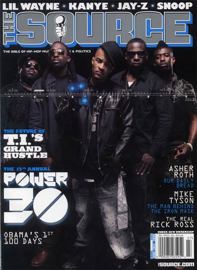 T.I., 8Ball and MJG, Grand Hustle Source Magazine Cover, June / July 2009