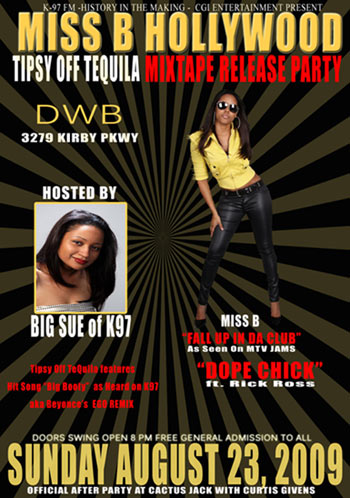 Miss B Hollywood Mixtape Release Party