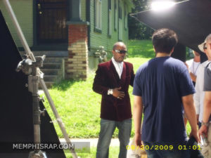 Photo of Juicy J at Three 6 Mafia Lil Freak Video Shoot