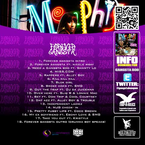 PHOTO: Gangsta Boo - Foreva Gangsta Mixtape back cover