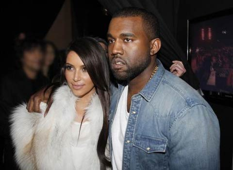 Photo of Kanye West and Kim Kardashian