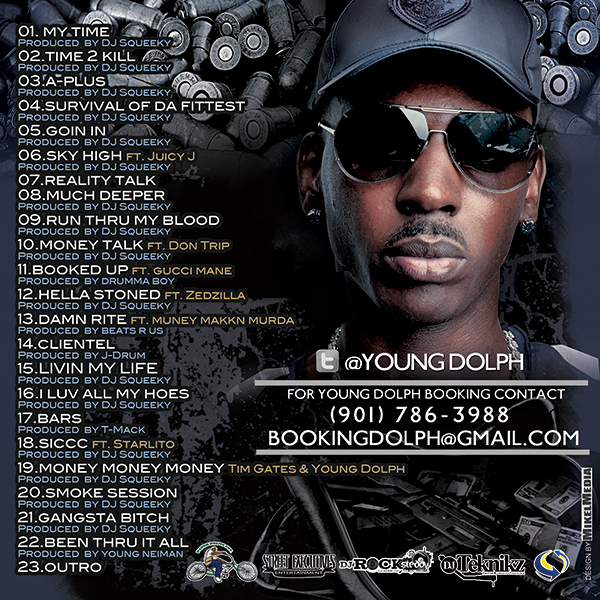 PHOTO: Young Dolph A Time 2 Kill Mixtape back cover