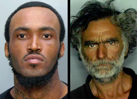 Photo of Miami Cannibal Attacker  Rudy Eugene and homeless victim Ronald Poppo