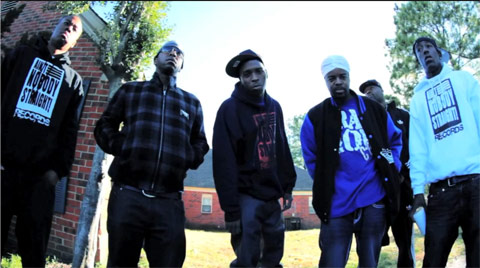 Photo - Stebo and Murder Gang B in the music video James Bond