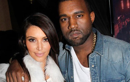 Photo of Kim Kardashian and Kanye West