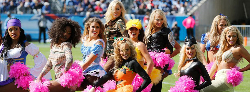 Photo close-up of Tennessee Titans Cheerleaders Halloween Costumes