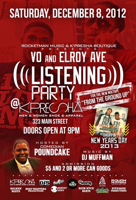 Rocketman Music presents Vo and Elroy Ave. Listening Party