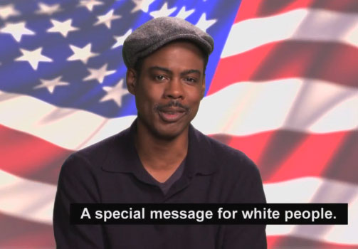 Photo of Chris Rock White Voters video message
