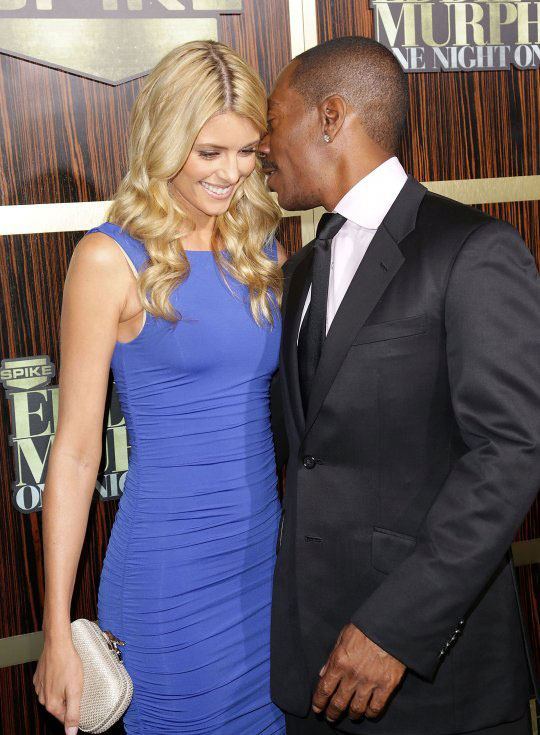 Picture of Eddie Murphy and new girlfriend Paige Butcher at TV Tribute