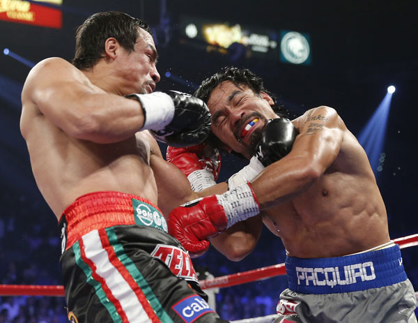 Photo highlight of Juan Manuel Marquez knocking out Manny Pacquiao fight
