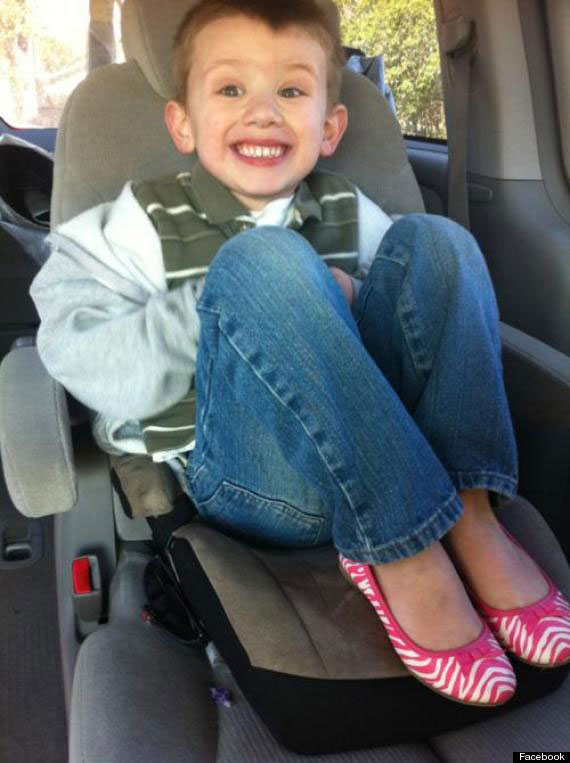 Photo of 5 year old Boy Sam in Pink Shoes