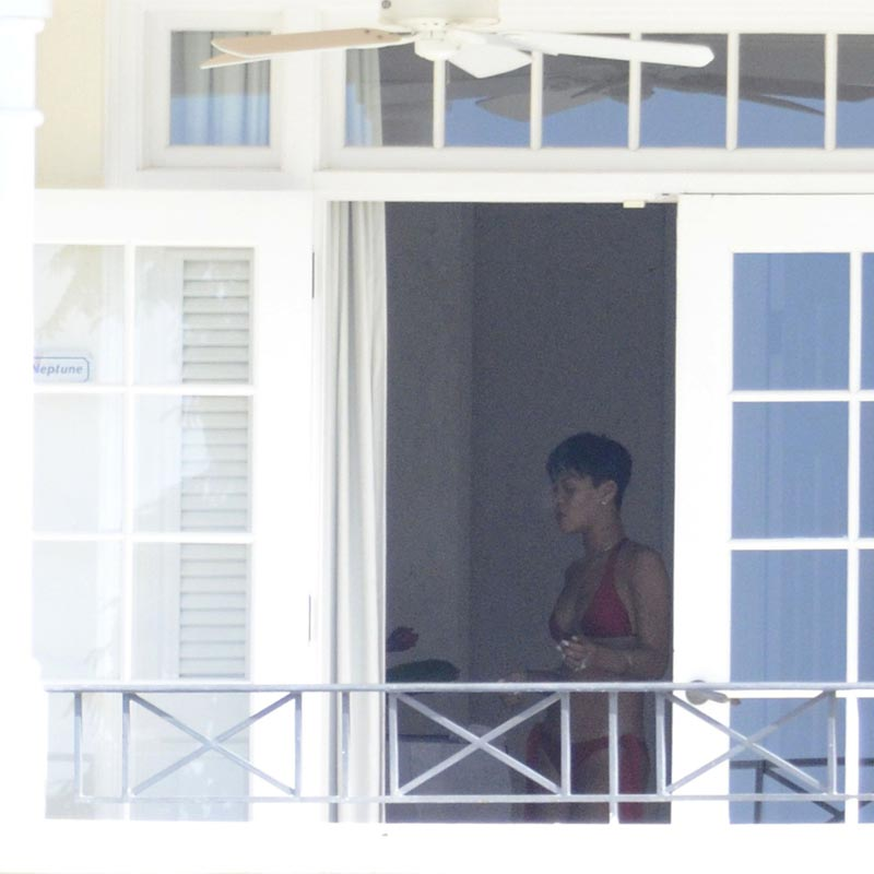 Photo of Rihanna In Bikini Picture Smoking On Barbados Balcony