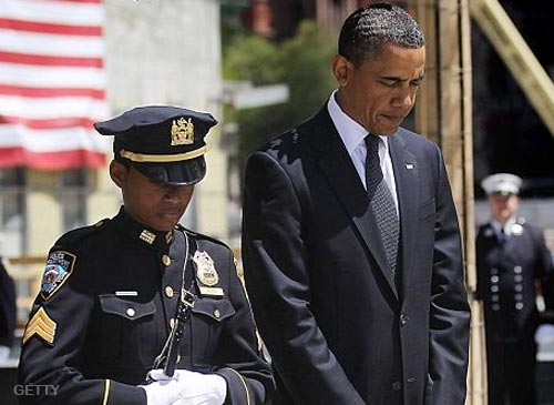 NYPD Officer Stephanie Moses with President Barack Obama