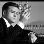 Singer/actor Justin Timberlake Black and White Suit and Tie
