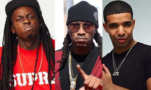 Photo - Rappers Lil Wayne, Future and Drake