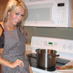Memphis film star Foxy Jacky aka Jacqueline McKee in the kitchen