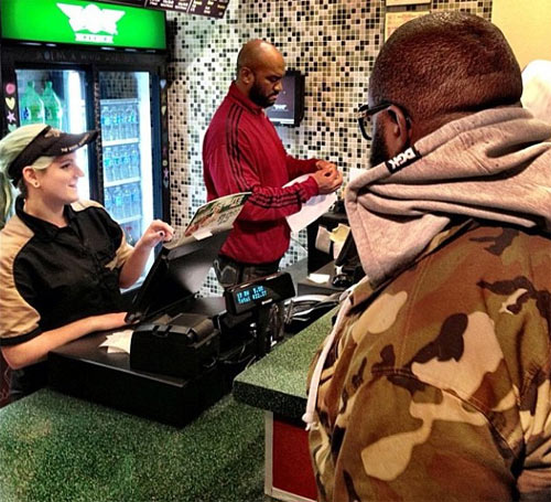 Rapper Rick Ross visits Wingstop in East Memphis