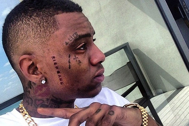 Photo - Soulja Boy Rich Gang Tattoo On Face