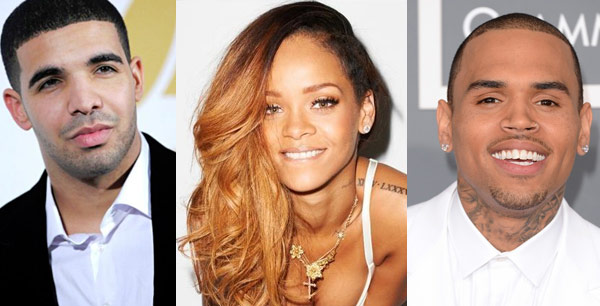 Drake, Rihanna and Chris Brown