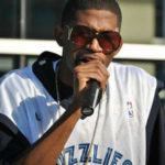 Photo of rapper Teflon Don at Grizzlies performance