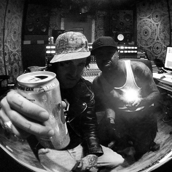 Yelawolf and DJ Paul in the studio