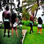 K. Michelle with boyfriend Lance in Puerto Rico