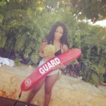 K. Michelle having fun in Puerto Rico