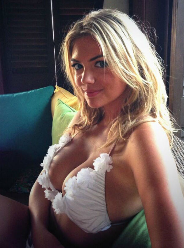 Photo of Kate Upton in White Beach Bunny Bikini