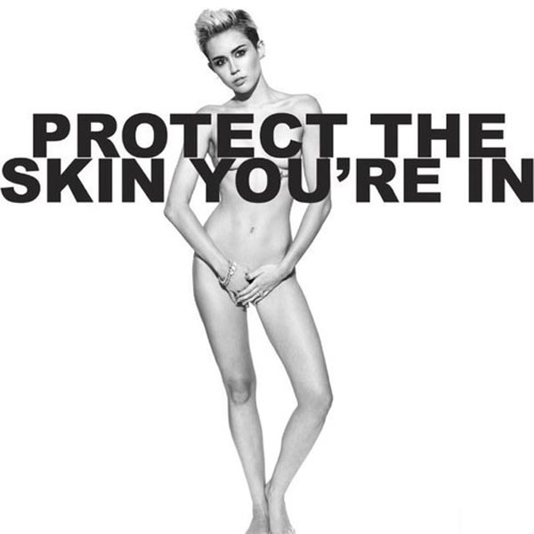 Miley Cyrus pose nude for Marc Jacob campaign Protect The Skin You're In