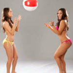 Photo of Bella Twins Playing Ball Bare Feet in Sexy Bikinis