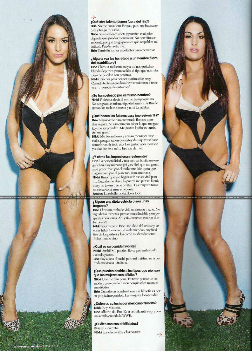 Photo of Bella Twins Sexy Maxim Spread