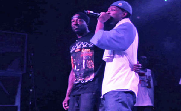 Charles Ramsey on stage with Bone Thugs-N-Harmony