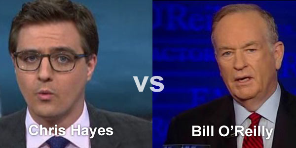 Chris Hayes vs Bill O'Reilly on Crime In America