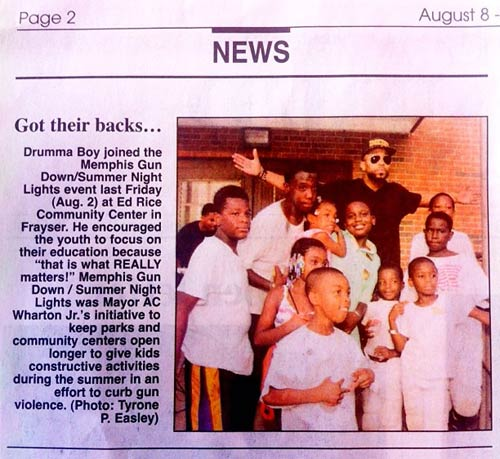 Drumma Boy at Ed Rice Community Center - Memphis Gun Down