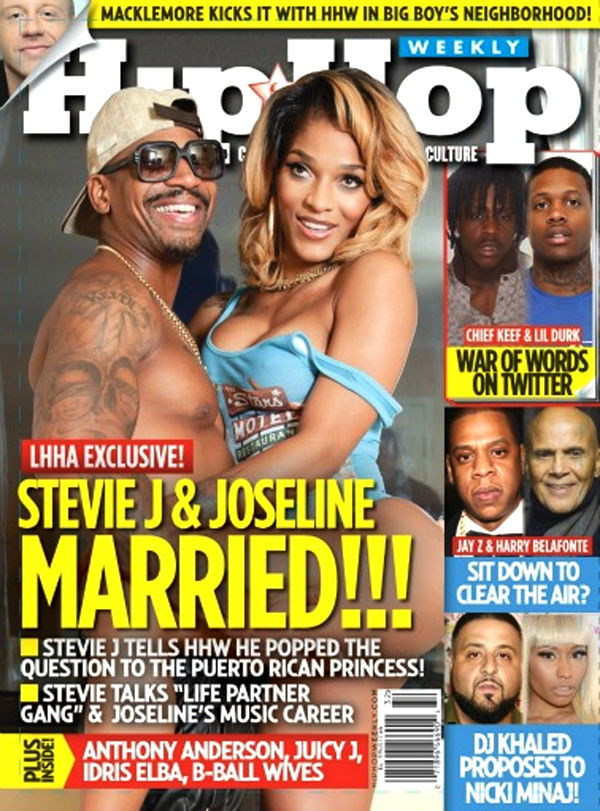 Photo of Stevie J and Joseline Hip Hop Weekly Magazine Cover
