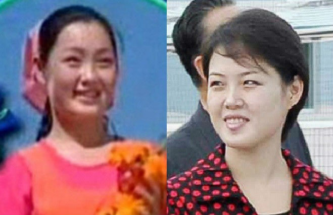 Photos of Hyon Song-Wol and Ri Sol-ju