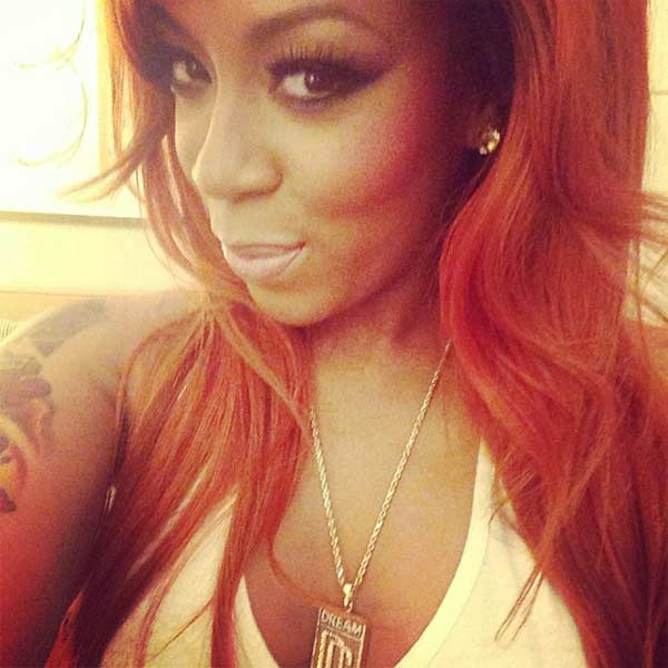 Photo of R&B singer K Michelle and Reality TV Star