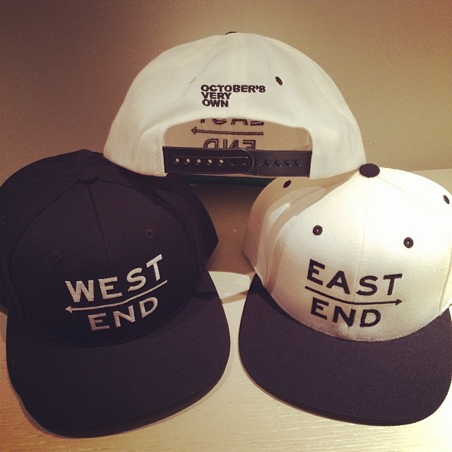 Drakes new OVO snapbacks West End and East End