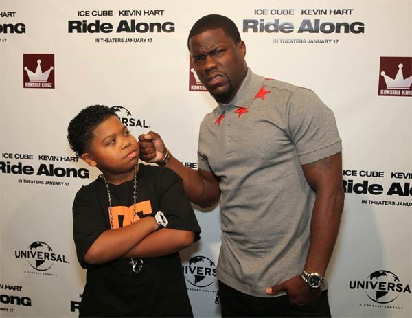 Movie Ride Along: Kevin Hart and Lil P-Nut red carpet