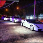 CMG cars lined up during CIAA Weekend