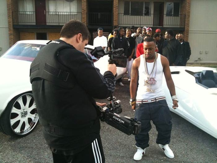 Yo Gotti filming video Ridgecrest Apartments