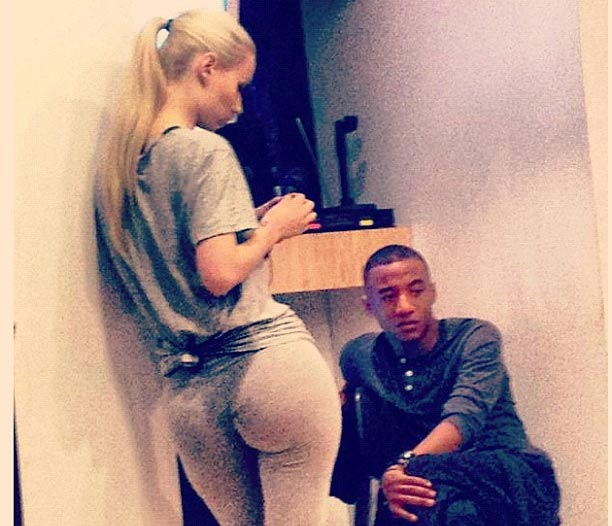 Iggy Azalea on the set
