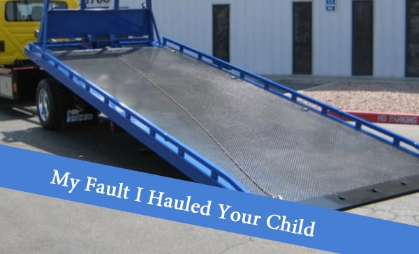 Repo Mistake I Hauled Your Child