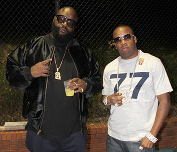 Rick Ross and Yo Gotti at party