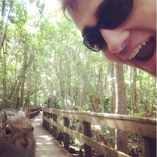 Tampa man takes selfie with squirrel gets attacked