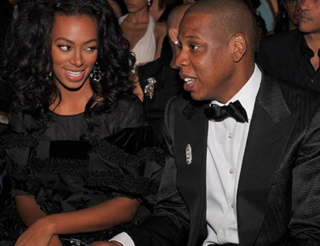Jay-Z talking with Solange
