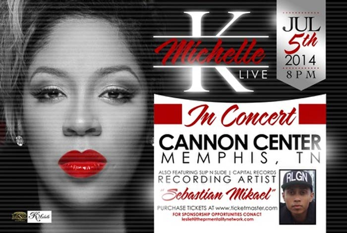 K Michelle in concert Cannon Center 2014