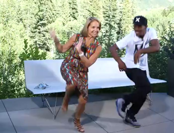 Katie Couric and Lil Buck jookin